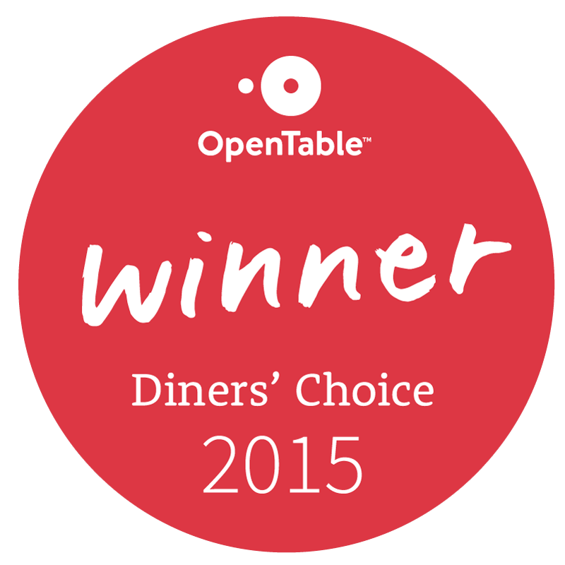 Cuvee was an Open Table Winner - Diner's Choice 2015